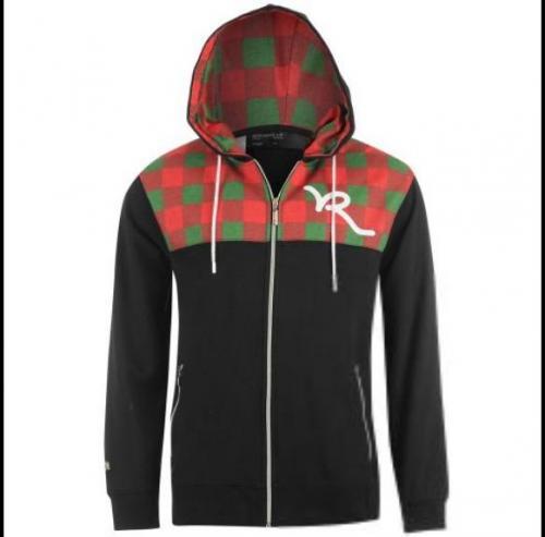 Rocawear R Zip Check Hoody  für 16€ Sportsdirect