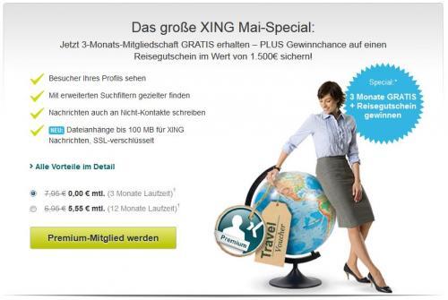 3 Monate XING Premium kostenlos
