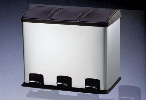 36 Liter Treteimer Edelstahl Luxus Ausführung - 3x 12 Liter Inneneimer @ebay