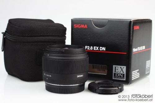 Objektiv SIGMA MFT 19mm f/2,8 EX DN mit Köcher für nur 116,- EUR inkl. Versand