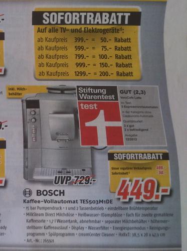 [lokal Kaiserslautern] Bosch VerCafe Latte TES 503M1 DE -17%