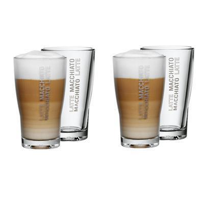 wieder im Angebot: WMF Latte Macchiato Gläser 4-er Set Barista zu 13,99€