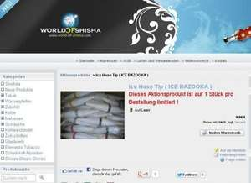 Wasserpfeife/shisha GRATIS ICE HOSE TIP (ICE BAZOOKA)