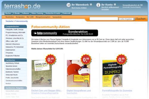 Spezialangebot Bildbearbeitungs- und Fotografiebücher bei Terrashop.de