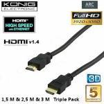3 HDMI 1.4 Kabel für 16 EUR [ibood]