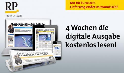 Rheinischen Post 4 Wochen kostenlos [Digital Ausgabe]