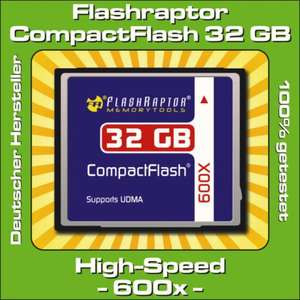 Compactflash Flashraptor 32 GB 600x