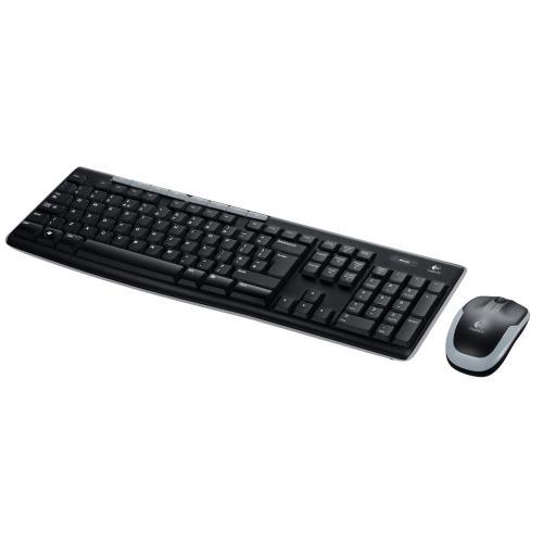 Logitech MK260 Tastatur und Maus schnurlos schwarz (deutsches Tastaturlayout, QWERTZ)