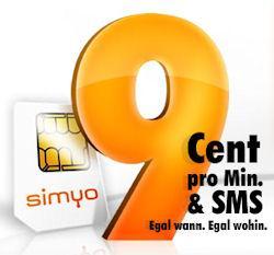 Kostenlose Prepaidkarte Simyo (Eplus) mit 10€ Startguthaben + 1 Monat Gratis Internet Flat