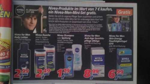 (Real) Für 7€ Nivea Men Produkte kaufen: 5 Teiliges Nivea Men Set gratis dazu