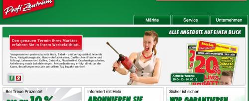 Hela Profi Zentrum (Baumarkt) 20% auf alles