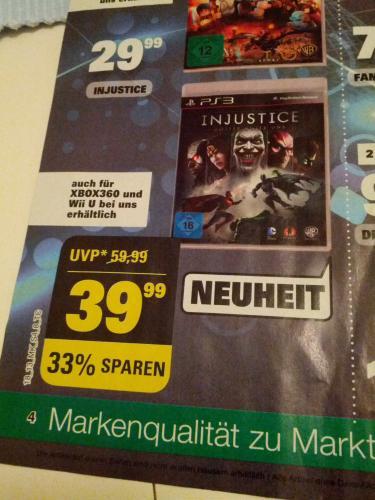 Injustice Ps3 im Marktkauf Bielefeld (lokal?) für 39,99 Euro