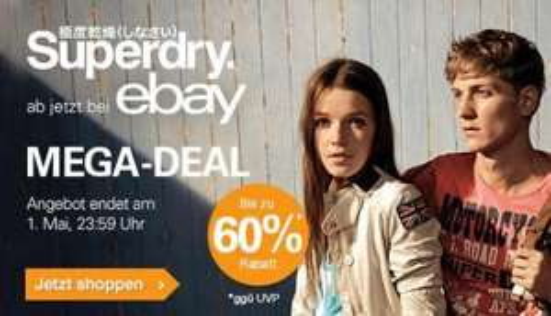 SUPERDRY MEGA DEAL auf eBay - 3 Tage bis zu 60% Rabatt