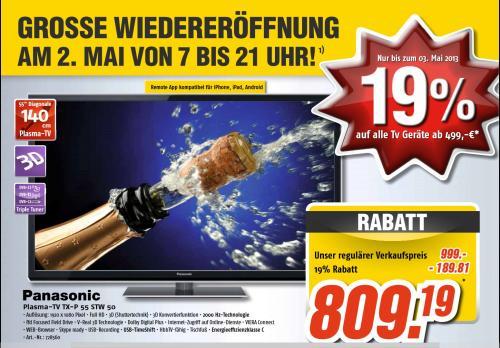 [Lokal] Medimax BGL Panasonic TX-P 55 STW 50 für 809,19€ und mehr ...