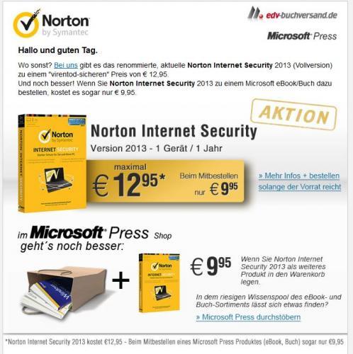 Norton Internet Security 2013 für 12,95 €