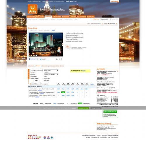 Las Vegas   2 Wochen   3*-Hotel   ab Amsterdam   763