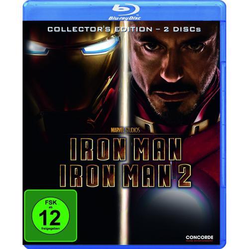 [BLU-RAY] Iron Man + Iron Man 2 - Collector's Edition (Softbox) @ Saturn.de für 6,00 EUR