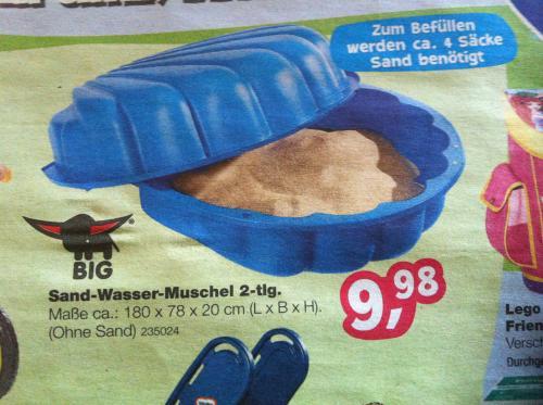 [nur offline] BIG Sand- und Wassermuschel für 9,98€ bei Toys'R'us