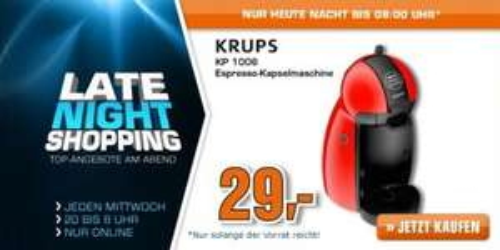 Krups Dolce Gusto Piccolo KP 1006 rot @ Saturn.de LNS für 29 EUR