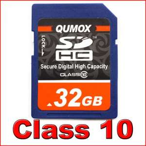 32GB QUMOX Class 10 SDHC SD Speicherkarte @ebay 15,99€