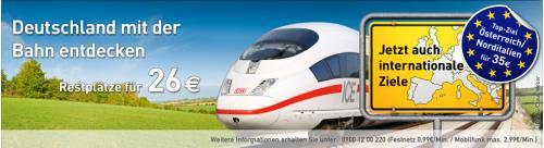 Ltur Bahn Spezial: für 35€ nach Österreich und Norditalien