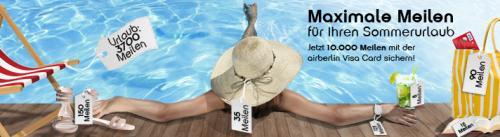 airberlin topbonus  Visa Card 10.000 Prämienmeilen