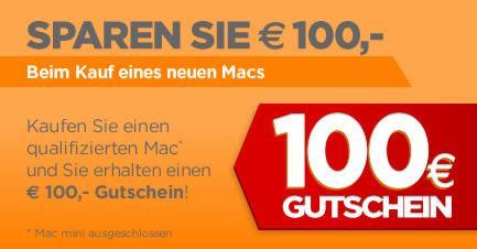 100€ Sofort-Rabatt auf Apple Produkte bei Mactrade