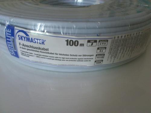 Skymaster 100m 4-fach-geschirmtes-Koaxialkabel für 9,99€ inkl. Versand