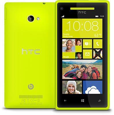 HTC 8X für 288€ (statt 395€) - limelight yellow (gelb) bei Amazon WHD