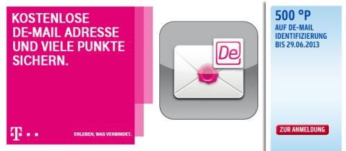 500 PAYBACK-Punkte + kostenlose DE-MAIL der Telekom