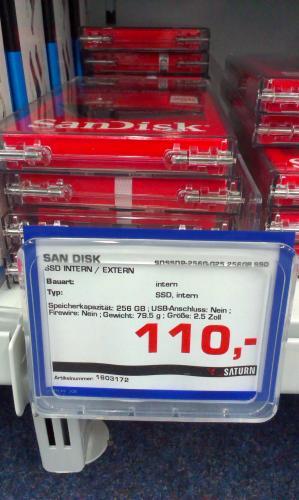 [Lokal Jena] San Disk SSD 256GB für 110€ im Saturn Goethegalerie