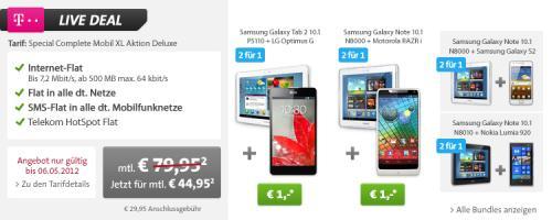 Telekom Allnetflat inkl. Nokia Lumia 920 und Galaxy Tab