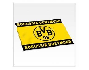BVB / Borussia Dortmund Fleecedecke 'Logo' für 13,60 €, vk-frei