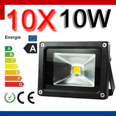 10x 10W LED Licht Flutlicht Strahler Fluter Objektbeleuchtung warmweiss IP65