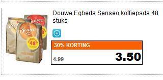 [Für Grenzgänger (NL)]: Original Senseo Kaffee Pads, 48 Stück für 3,50 EUR bei AH