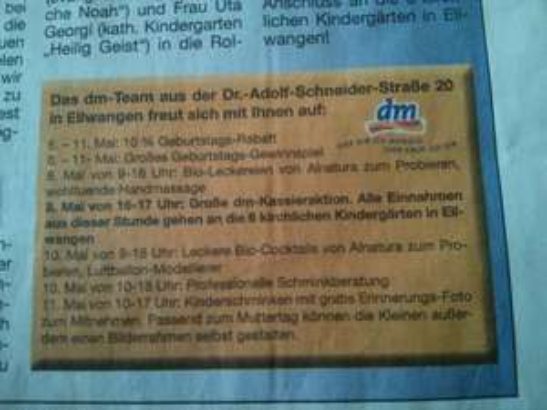 DM in Ellwangen feiert Geburtstag 10% Rabatt