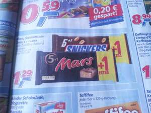 Mars, Snickers oder Twix 5+1 @Real