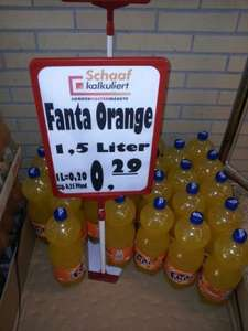[Lokal]  1,5L Fanta Orange für 0,29€  @ Jawoll Celle