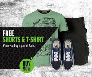 Vans Schuhe kaufen und 1 T-Shirt + 1 Shorts gratis dazu