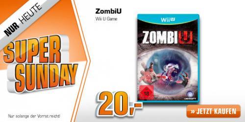 ZombiU für Nintendo Wii U @ Saturn Super Sunday für 20,00 EUR