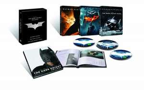 The Dark Knight Trilogy Steelbook Edition (exklusiv bei Amazon.de) (5 Discs) [Blu-ray]