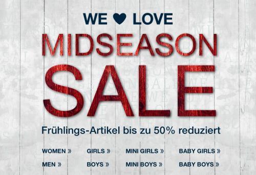 Midseason Sale bei Tom Tailor - Waren bis zu -50% reduziert