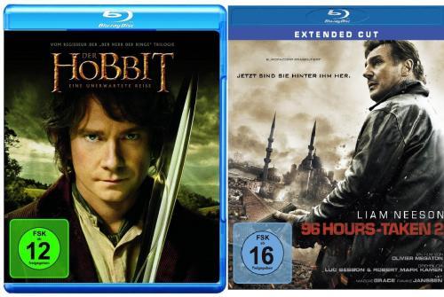 Der Hobbit und Taken 2 für 16,95€ mit Versand bei Conrad [Gutschein] (andere Kombinationsmöglichkeiten)