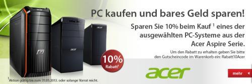 Acer PC kaufen und 10 % sparen!