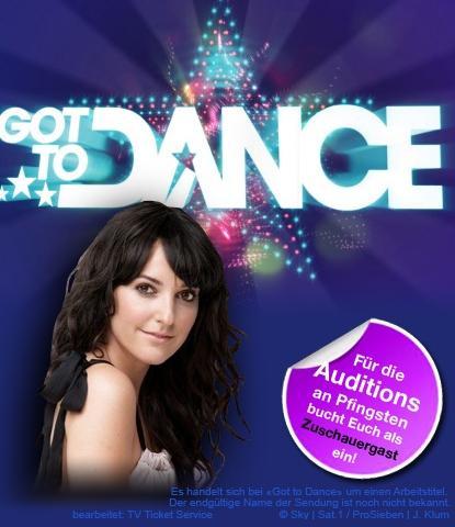 Got to Dance Aufzeichnung in Köln + Essen + Getränke + 40 Euro Aufwandsentschädigung