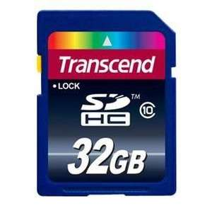 Transcend 32 GB SDHC Karte Class 10 für nur 12,- EUR inkl. Versand [TS32GSDHC10]