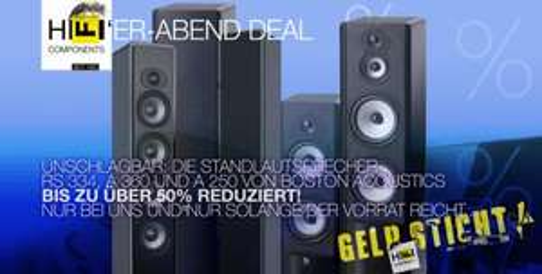 Boston Acoustics RS 334 / A 360 / A 250 - über 50% preiswerter - Boston Speaker-Deal bei hificomponents.de