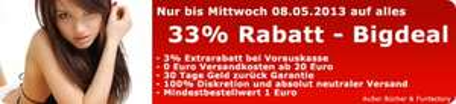 33% Rabatt im sex(toy)shop venize.de bis 08.05.2013