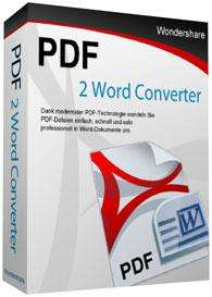 Vollversion Wondershare PDF 2 Word Converter