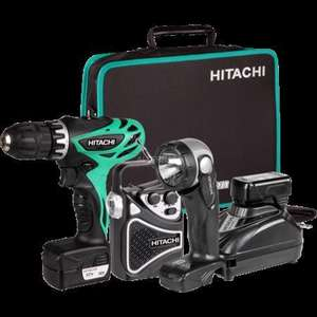 "Hitachi Akkubohrschrauber-Set 10.8V ""KC10DHL"" 94,90€"
